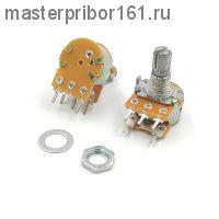 Потенциометр  WH148 с выключателем, 5PIN, 15мм , 100,0 кОм