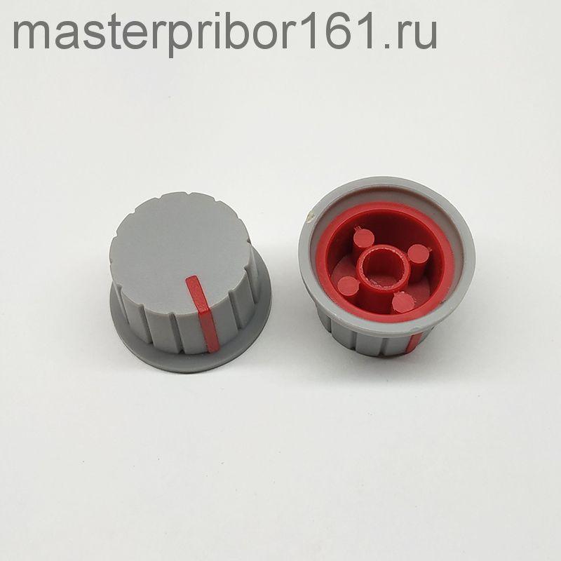 Ручка потенциометра Серо-Красная