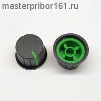 Ручка потенциометра Черно-Зеленая