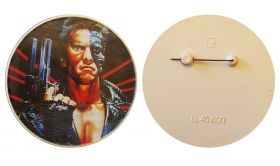 Арнольд Шварцнеггер. Значок СССР (90е года) - Arnold Schwarzenegger, 60мм