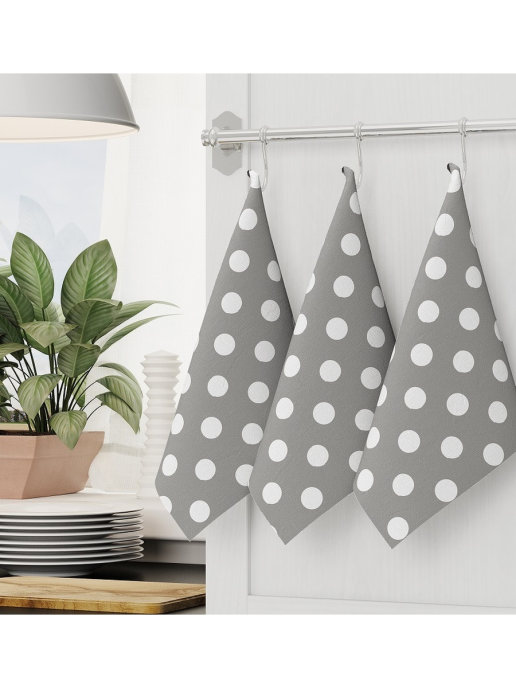 Кухонные полотенце, набор кухонных полотенец 3 шт 45x70