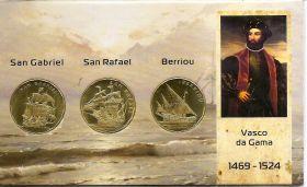 Корабли экспедиции Васко да Гама - Сан-Габриэл, Сан-Рафаэл, Берриу 50 эскудо Каликут  2021