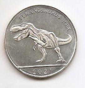 Тираннозавр  3 гульдена Кюрасао  2021 Новая серия монет