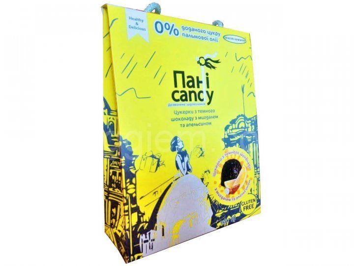 """Натуральные конфеты со вкусом апельсина с миндалем без сахара и пальмового масла """"Пани Candy"""",100 грамм"""