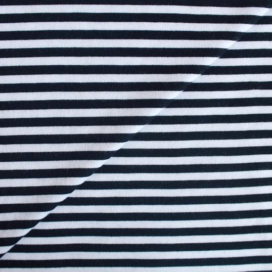 Лоскут трикотажной ткани 50*30 Черная полоска