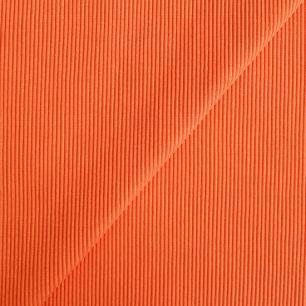 Лоскут трикотажной ткани кашкорсе- резинка Оранжевый