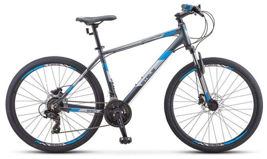 """Велосипед Stels Navigator 590 D K010 Синий/салатовый 16"""" (LU089781 LU094326)"""