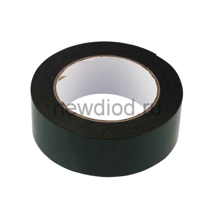 Двухсторонний скотч, черная вспененная ЭВА основа 30 мм, ( ролик 5 м)  REXANT
