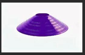 Конус для разметки поля футбольный  фишка фиолетовый
