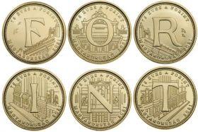 75 лет форинту 5 форинтов Венгрия 2021 Набор из 6 монет