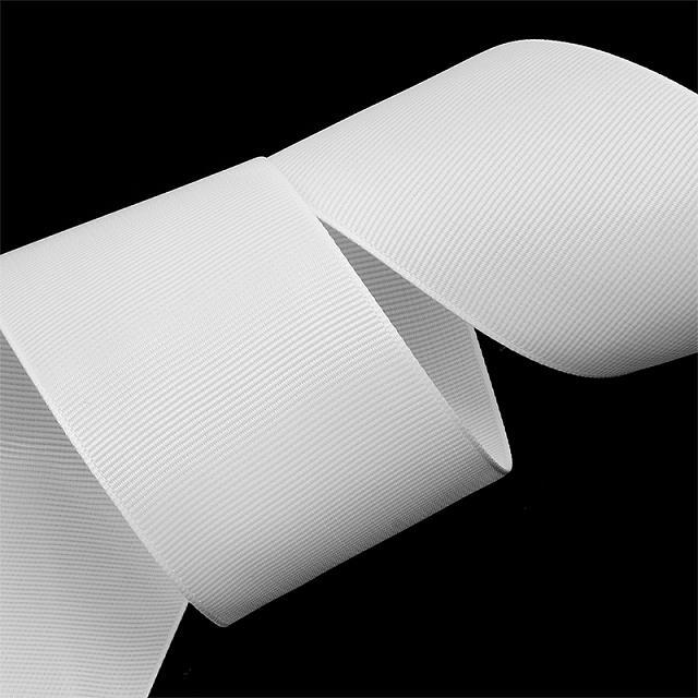 фото Лента репсовая IDEAL цвет 050 белый. ЛР.IDEAL-050