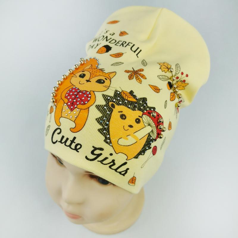 вд1634-82 Шапка трикотажная двойная Cute Girls банан