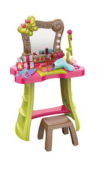 Детское трюмо туалетный столик сенсорный со стульчиком, музыкой и микрофоном (661-135)