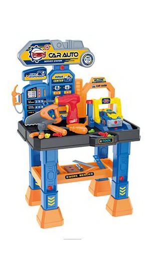 Детский столик с инструментами автомастерская с автоподъемником (661-442)