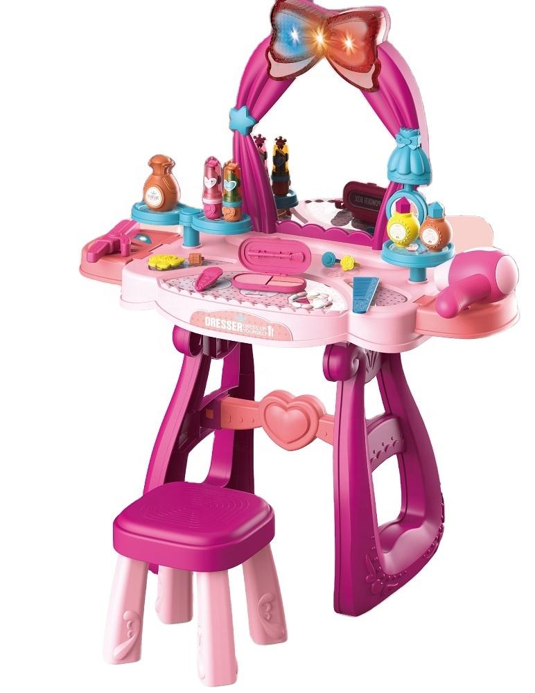 Игровое трюмо для девочки туалетный столик со стульчиком (8222С)