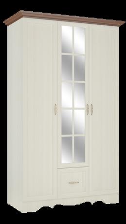Шкаф трехдверный в спальню Латте 3