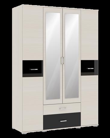 Шкаф 4х-дверный Сити 4 с зеркалом