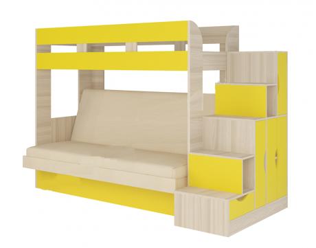 Кровать диван 2-х этажная Карамель 75-01