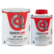 Quickline КОМПЛЕКТ 2К Грунт-наполнитель 3405/2.5 + Отвердитель MS стандартный 4220/0.5, 2,5л. + 500мл.