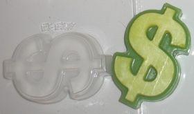 Пластиковая форма для мыла и шоколада Доллар