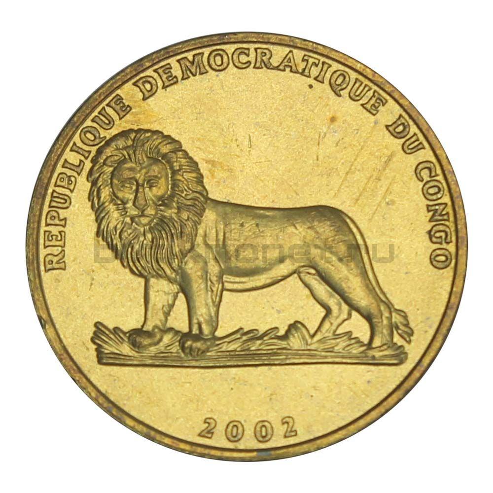 1 франк 2002 Конго (ДРК) Петух (Животные)