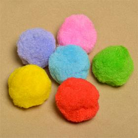 Помпоны - шарики для творчества разноцветные . Разные размеры. (TBY ВС0R)