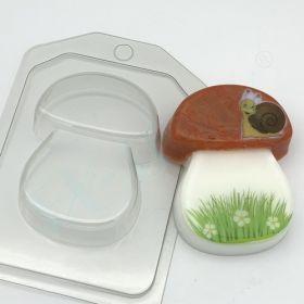 Пластиковая форма для мыла и шоколада Гриб плоский