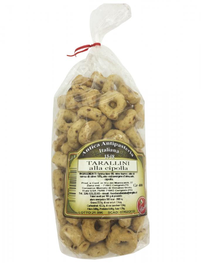 Тараллини с луком 400 г, Tarallini alla cipolla Food & B 400 gr.