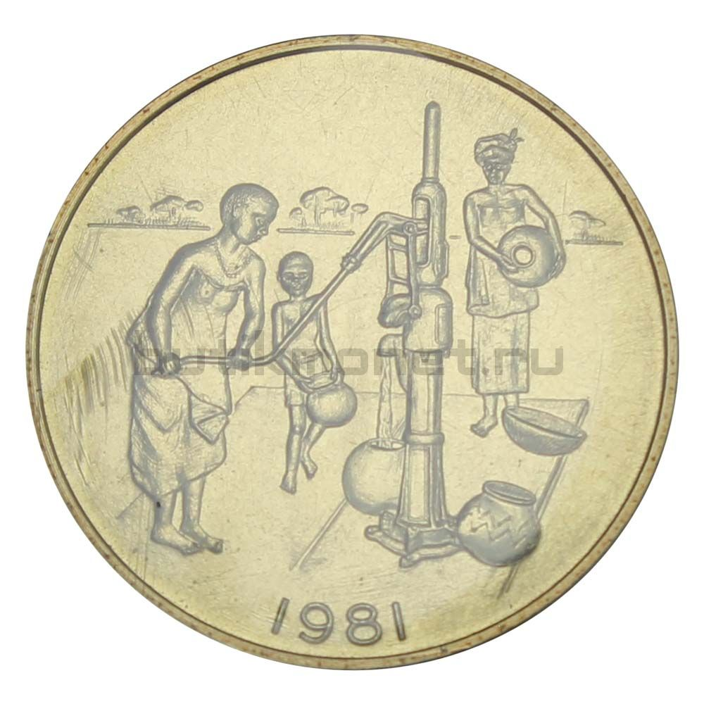 10 франков 1981 Западная Африка Пробный выпуск