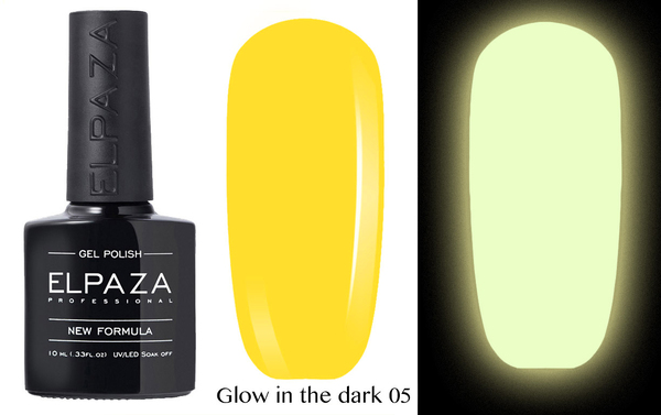 ELPAZA гель-лак GLOW IN THE DARK (светящиеся в темноте) 005, 10 мл.