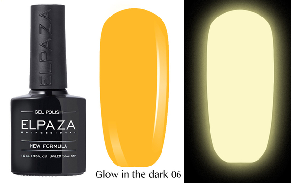 ELPAZA гель-лак GLOW IN THE DARK (светящиеся в темноте) 006, 10 мл.