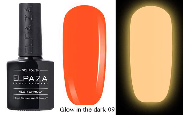 ELPAZA гель-лак GLOW IN THE DARK (светящиеся в темноте) 009, 10 мл.