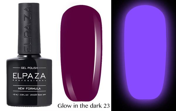 ELPAZA гель-лак GLOW IN THE DARK (светящиеся в темноте) 023,  10 мл.