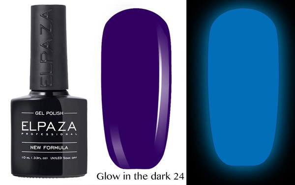 ELPAZA гель-лак GLOW IN THE DARK (светящиеся в темноте) 024,  10 мл.