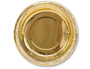Тарелки золотые большие