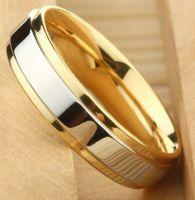 Двухцветное кольцо 6 мм