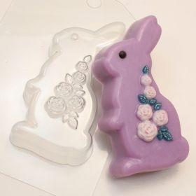 """Форма для мыла и шоколада """"Кролик/Розы"""", арт. 1115"""