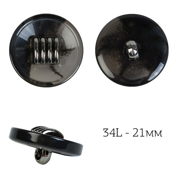 фото Пуговицы костюмные пластик на ножке цвет 01 черный  Разные диаметры TBY.J.1857.1.34