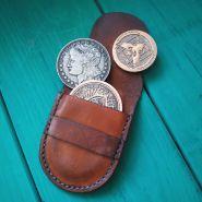 Кожаный кошелёк для монет
