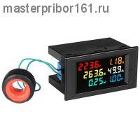 D69-2058 Цифровой измеритель AC Вольт Ампер Ватт метр , VU метр ,AC 80.0-300.0V ,  AC 0-99.99A