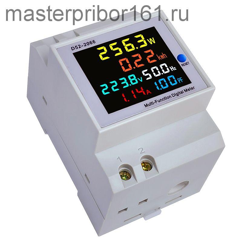 D52-2066 на din-рейку Многофункциональный цифровой измеритель может измерять напряжение переменного тока, ток, активная мощность, коэффициент мощности, частоту и электрическую энергию