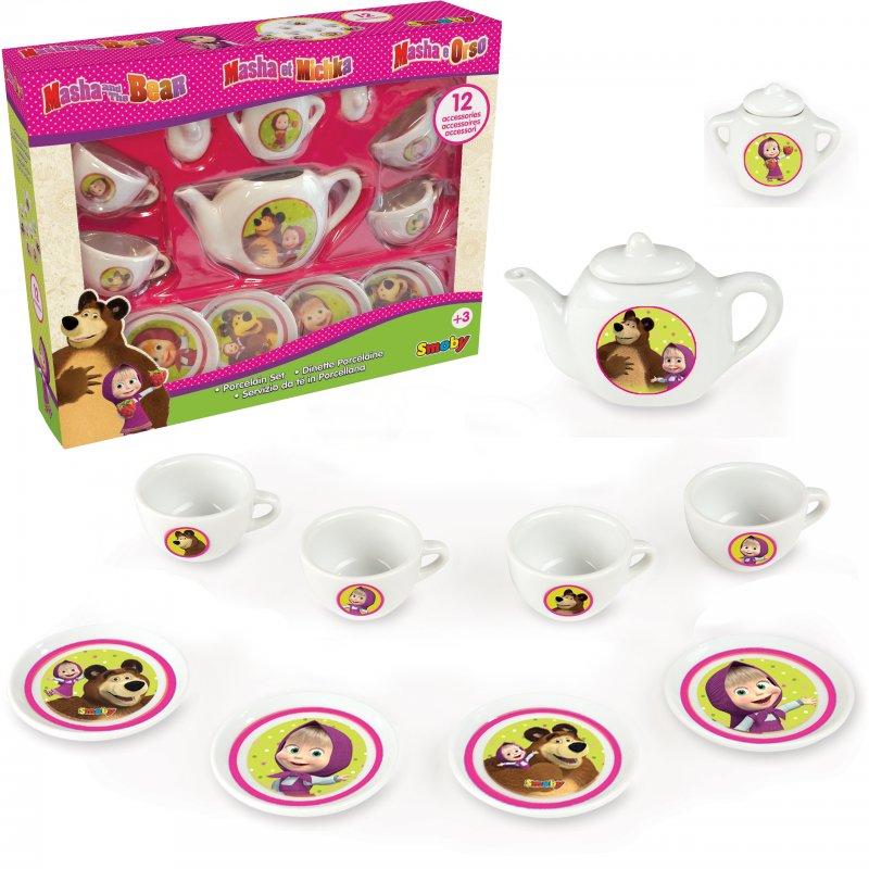 Чайный сервиз игрушечный Маша и Медведь Smoby 310514