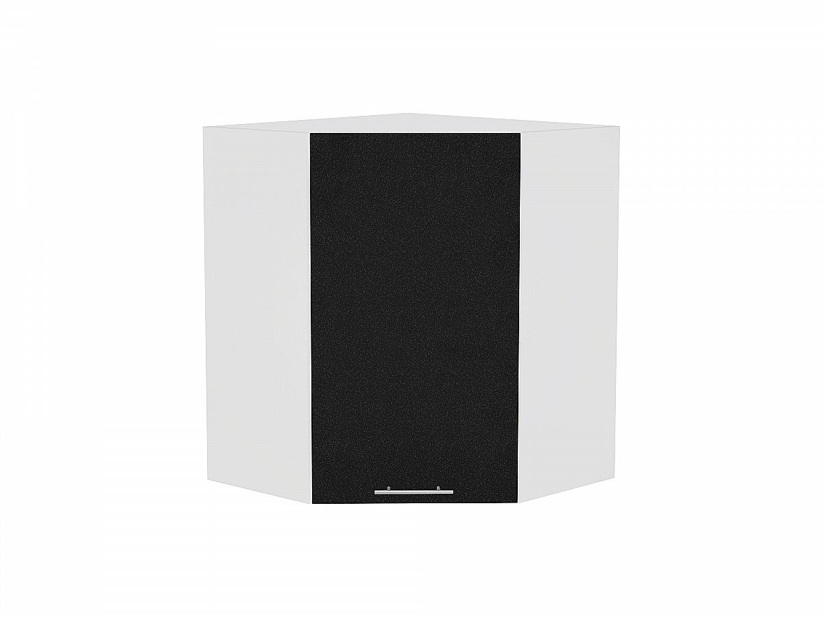 Шкаф верхний угловой Валерия ВУ599 (чёрный металлик)