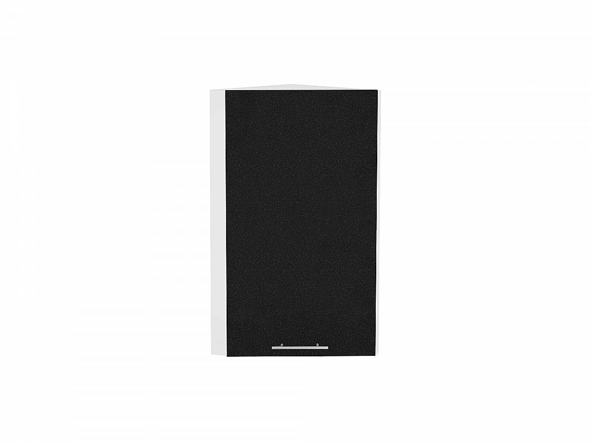 Шкаф верхний торцевой Валерия ВТ230 (чёрный металлик)