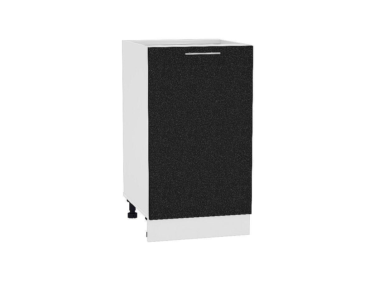 Шкаф нижний Валерия Н450 (чёрный металлик)