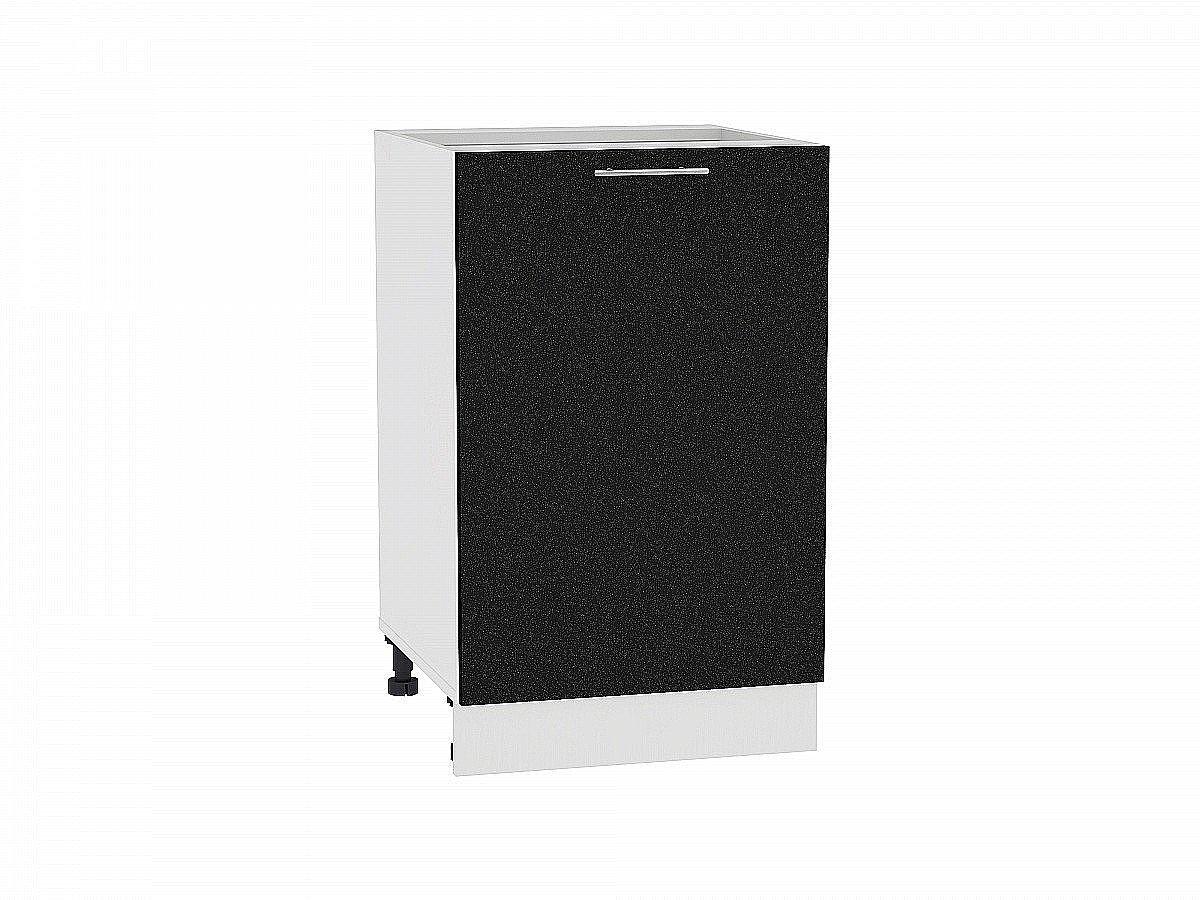 Шкаф нижний Валерия Н500 (чёрный металлик)