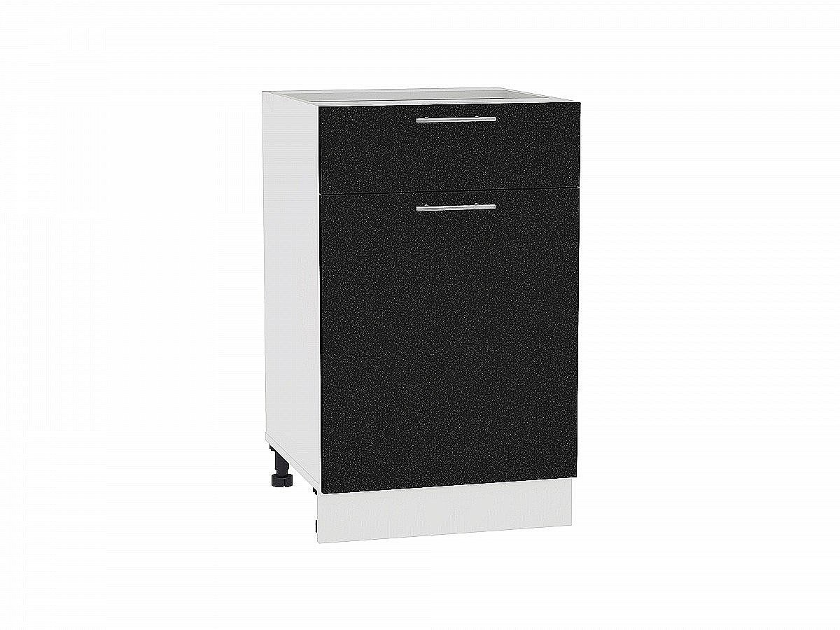 Шкаф нижний Валерия Н501 (чёрный металлик)