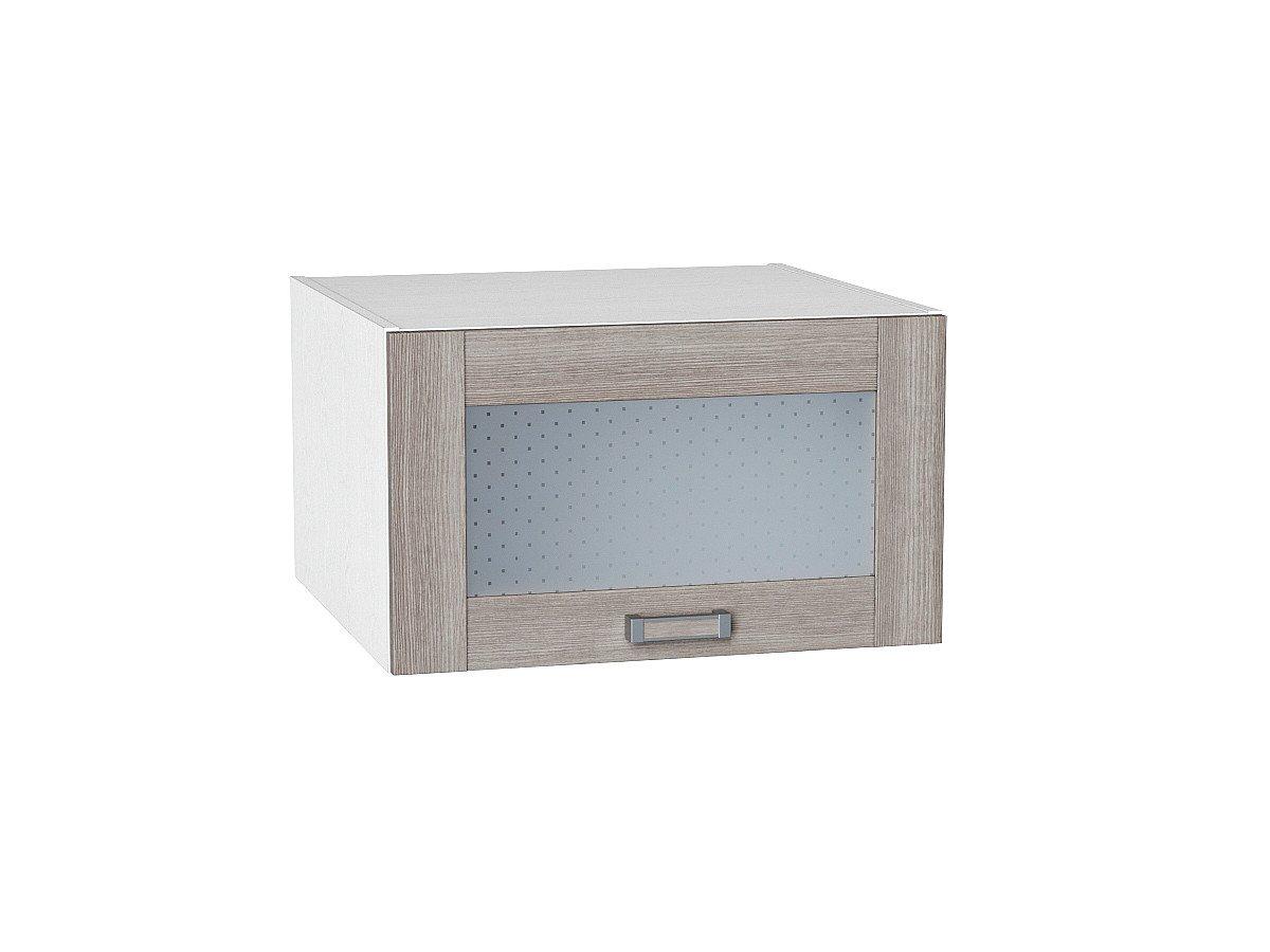 Шкаф верхний Лофт ВГ610 со стеклом (cappuccino veralinga)