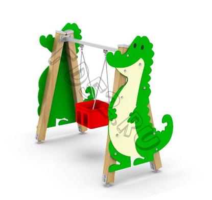 Качели на брусе «Крокодил»  423.07