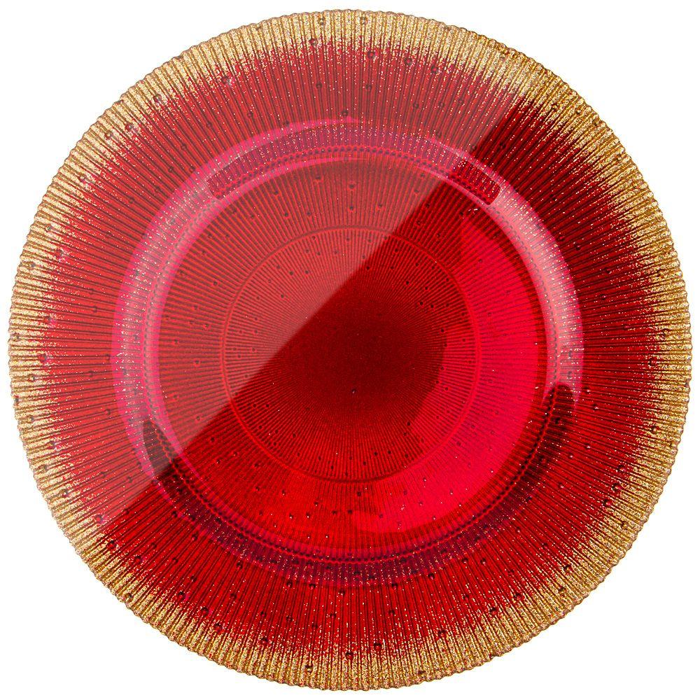 "ТАРЕЛКА ""GLAMOUR RED"" 21СМ"